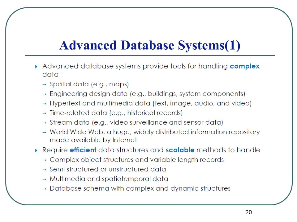 20 Advanced Database Systems(1)