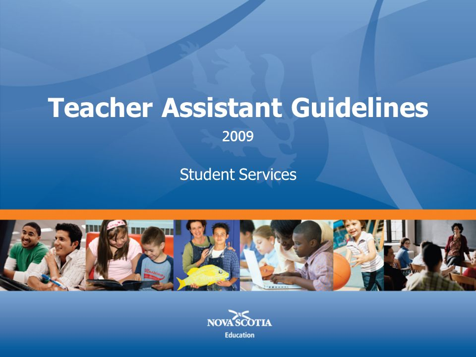 Teacher Assistant Guidelines Student Services 2009