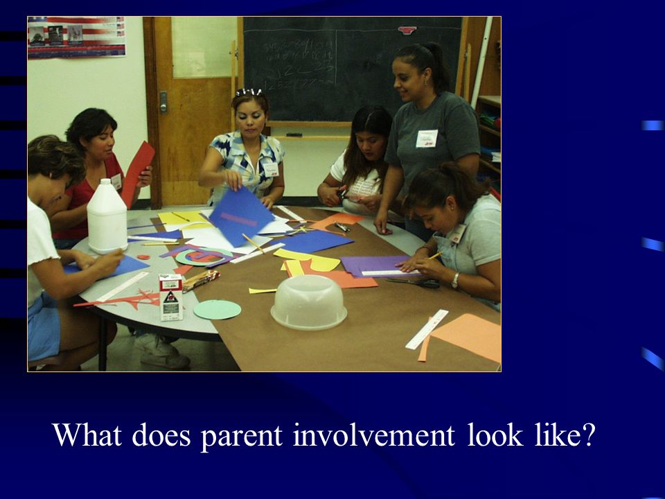 What does parent involvement look like