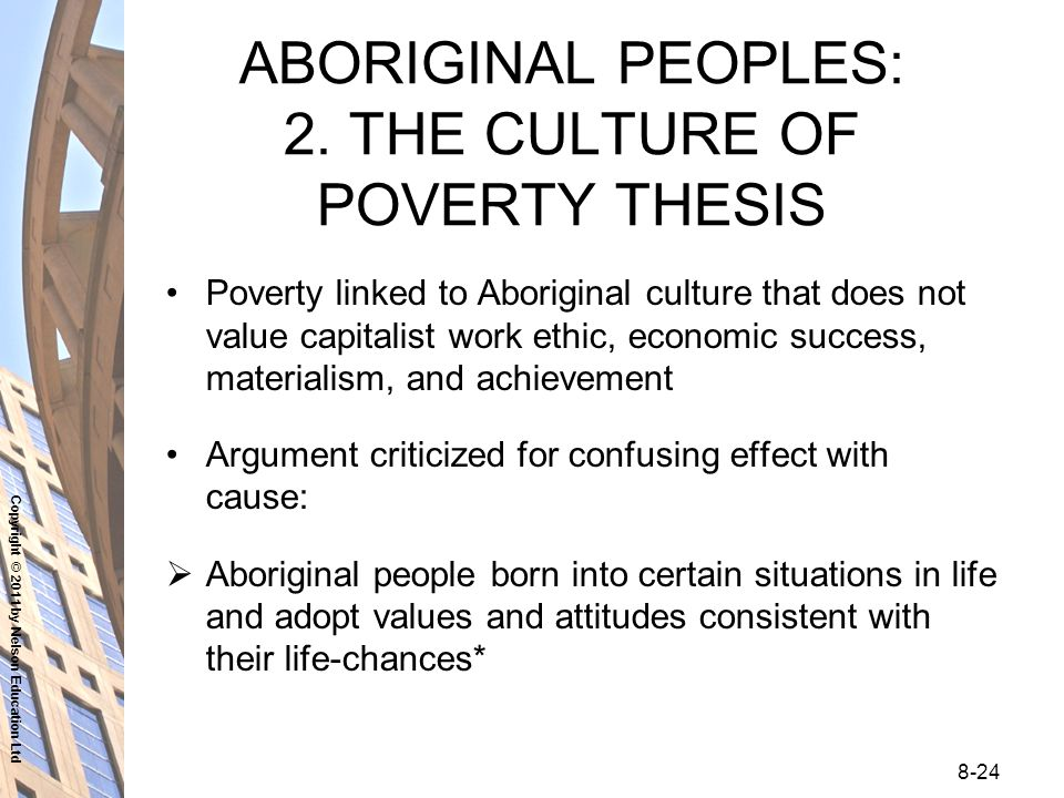 assess culture poverty thesis