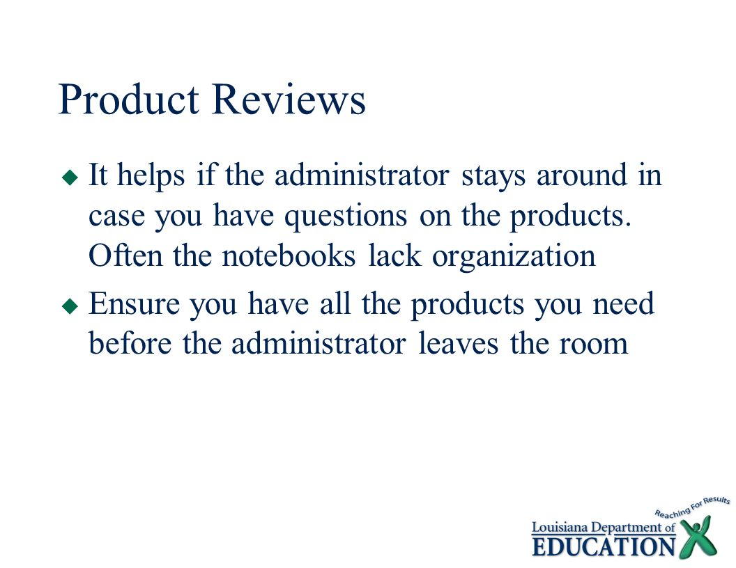 Product Reviews  It helps if the administrator stays around in case you have questions on the products.