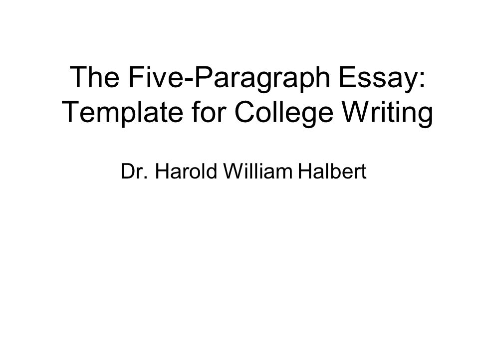 five paragraph essays outlines
