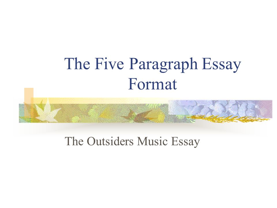 What is a good title for an outsiders theme essay?
