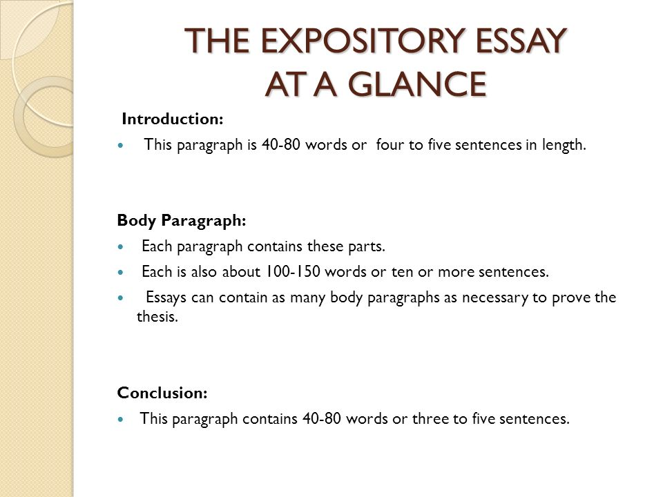 expository essay sample papers