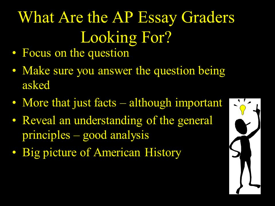 the essay question types of essay questions document based  what are the ap essay graders looking for