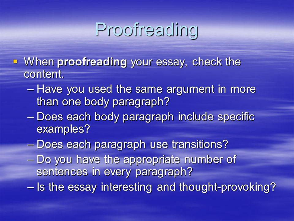 essay proofreadig
