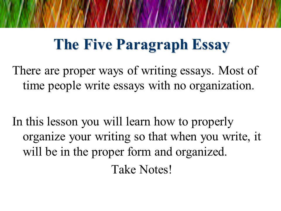 ways of organizing essays
