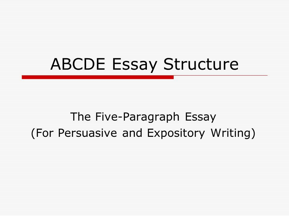what are the structural elements of an essay