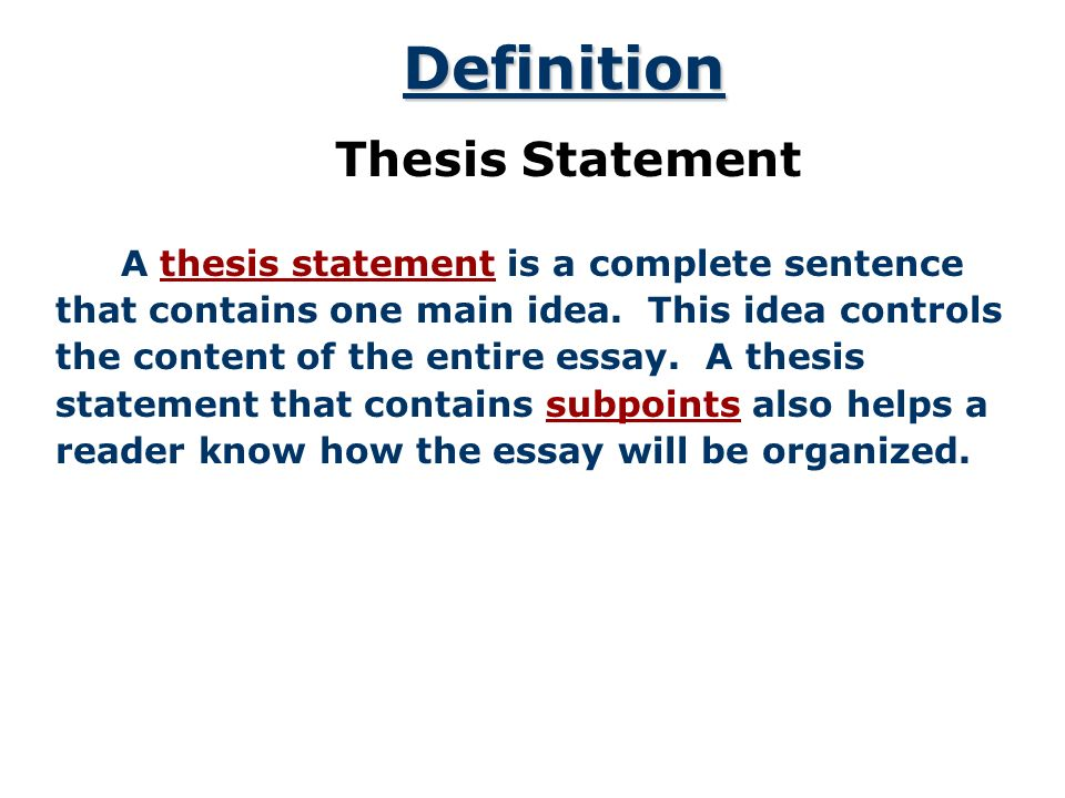 Thesis-driven rhetorical analysis essay