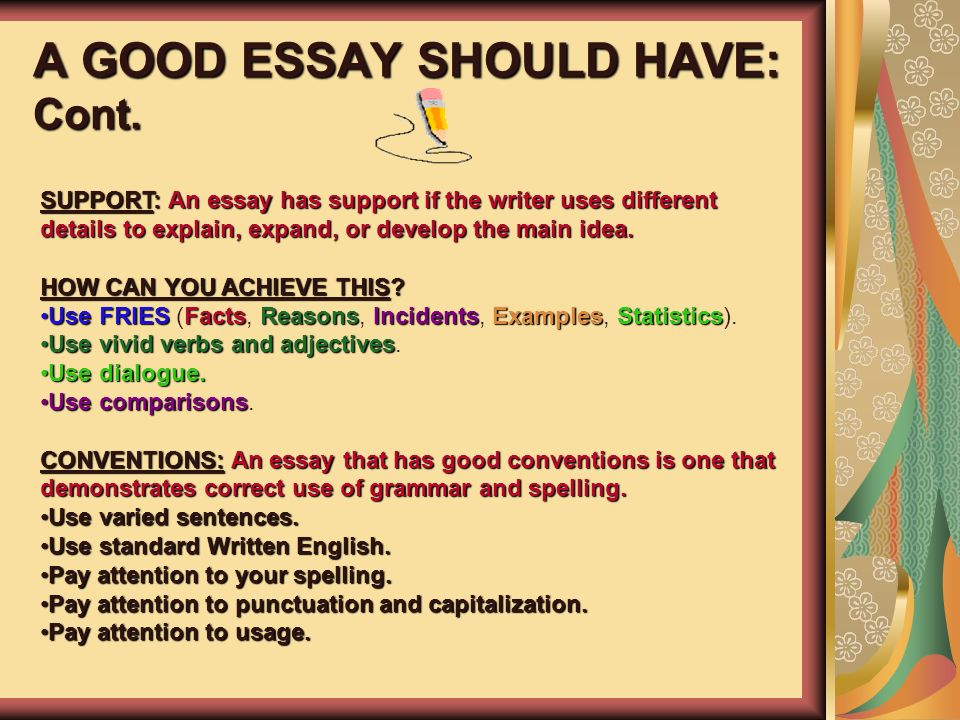 good words to use for a definition essay