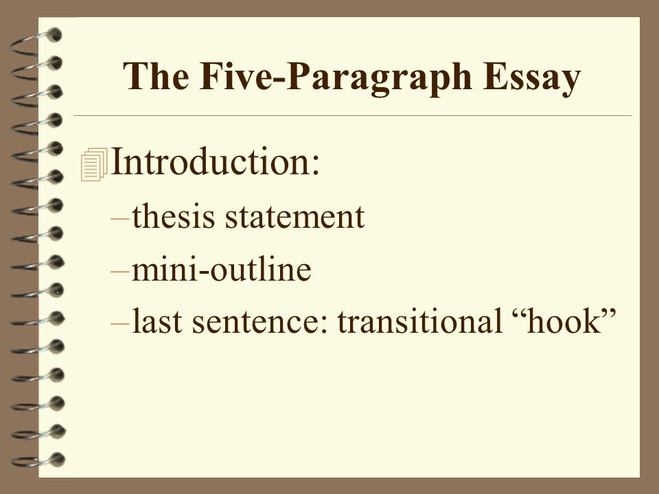 1 The Five Paragraph Essay ...