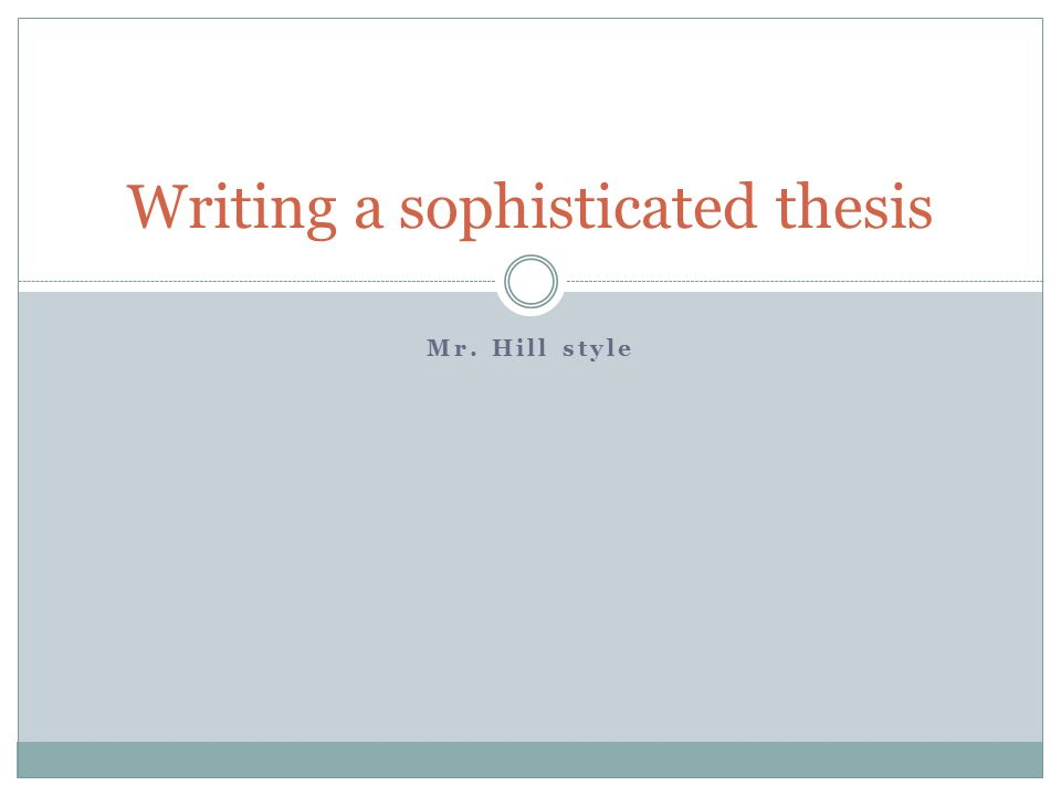 Steps to write a thesis statement