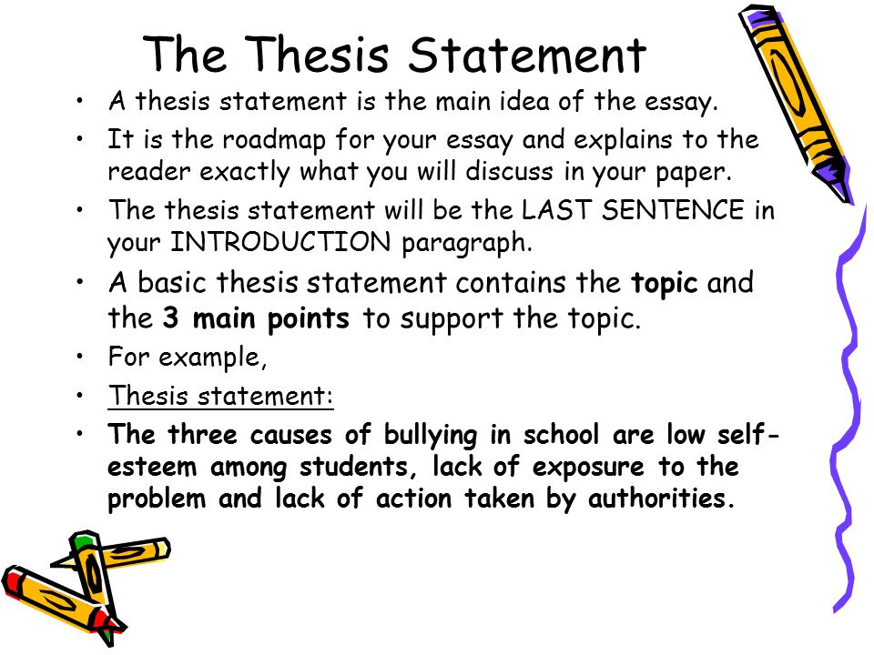 Help with writing a thesis statement for a research paper. I need to ...