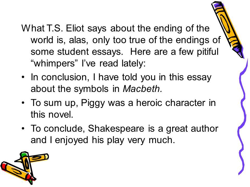 Good endings for essays