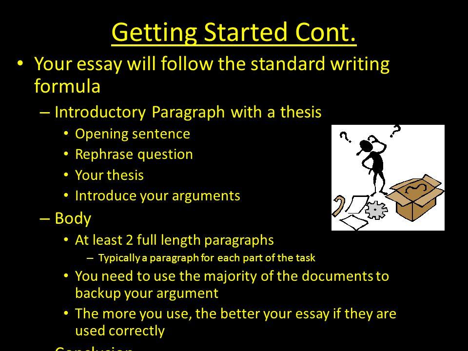 A question on essay length?