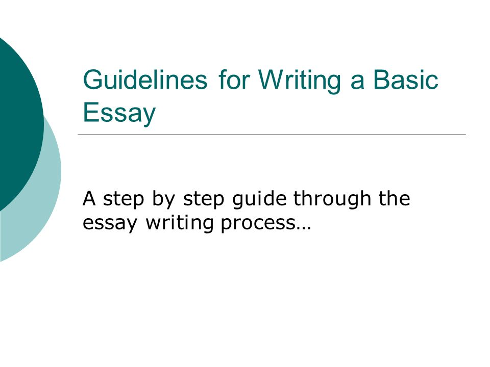 Step by step essay writing