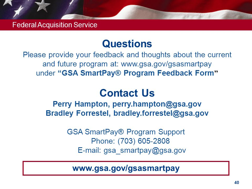 Federal Acquisition Service U.S. General Services Administration ...