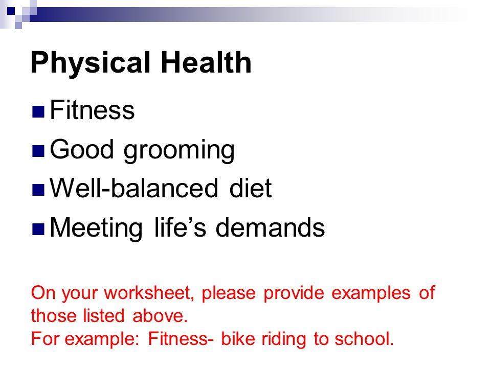 good mental health examples