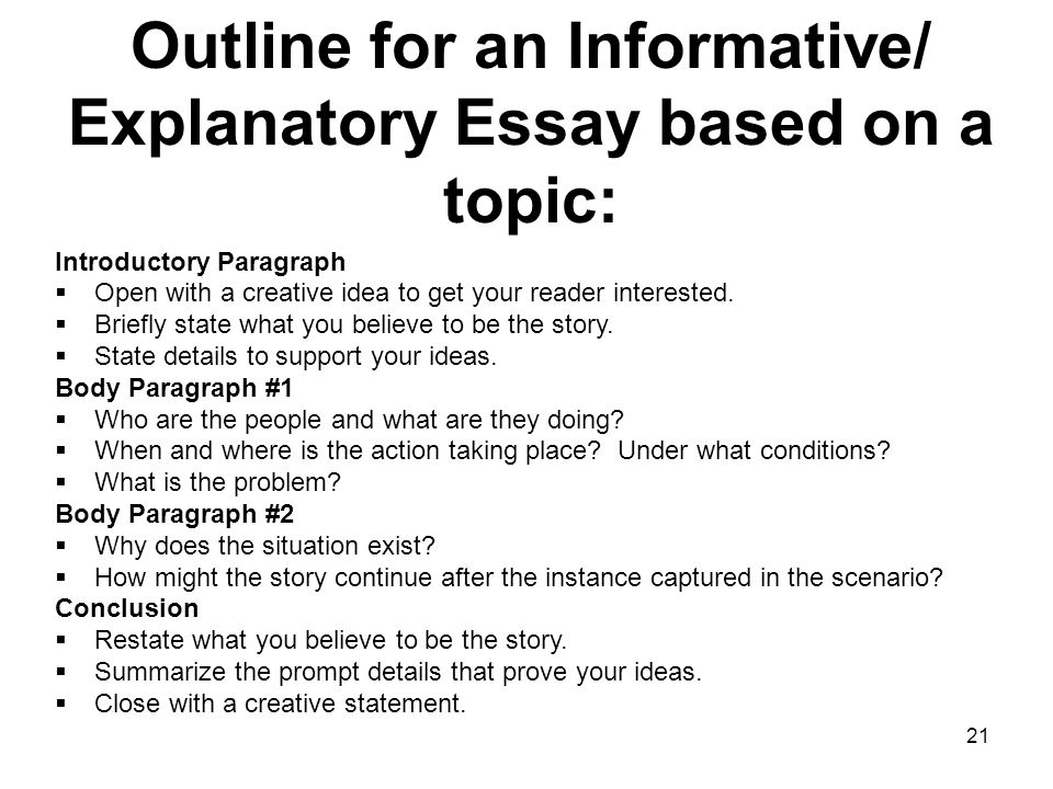 Example Of Informative Essay