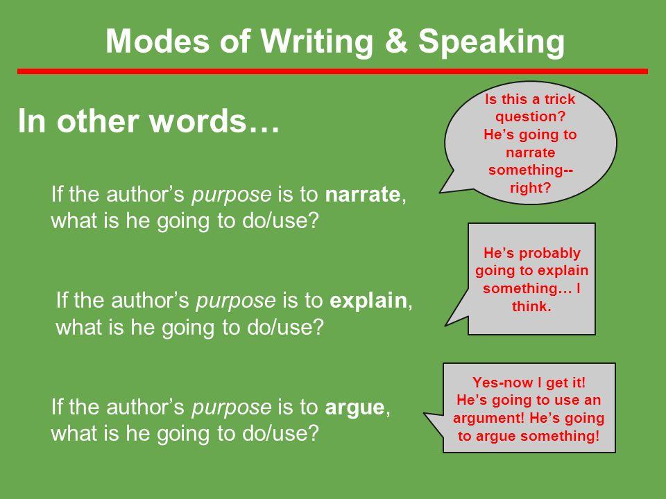 modality in persuasive writing