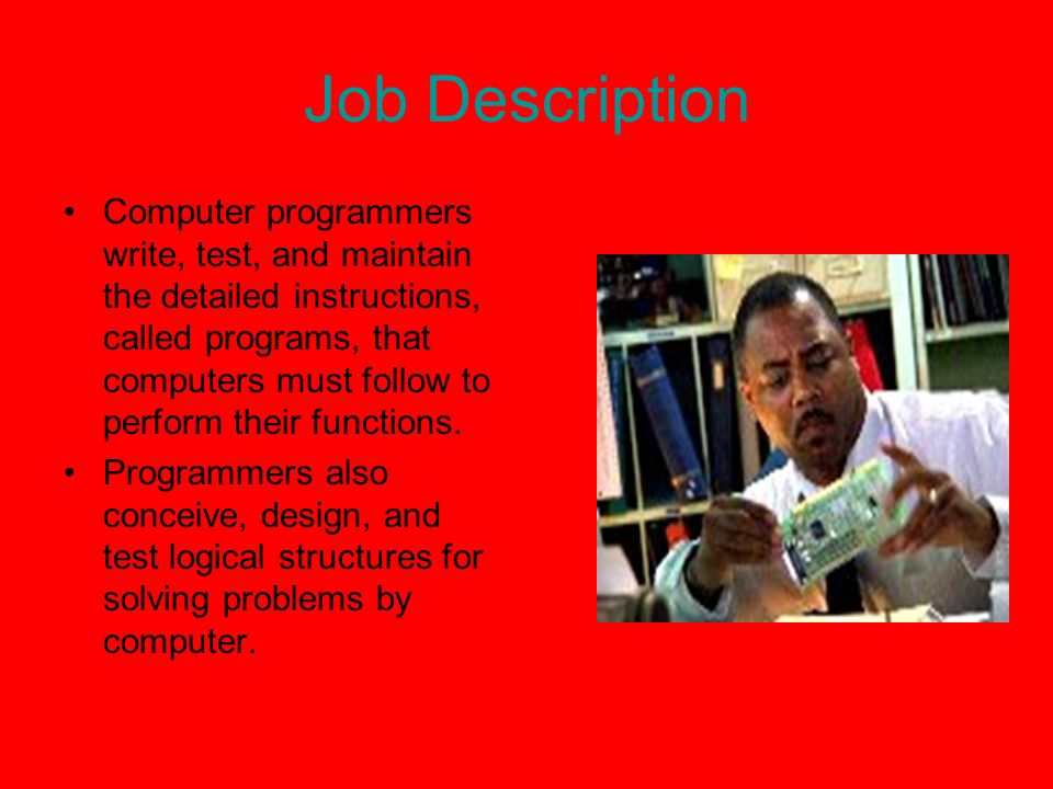 Computer Programming My Home Page My Paper Job Description Computer ...