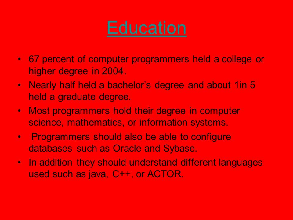 Computer Programming My Home Page My Paper Job Description