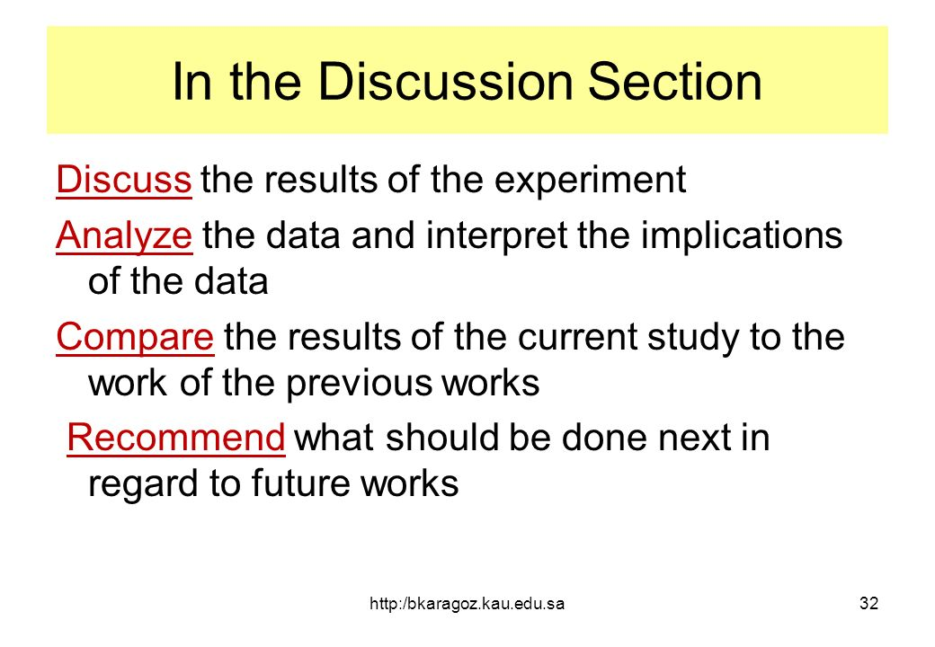How To Write The Discussion Section Of A Dissertation