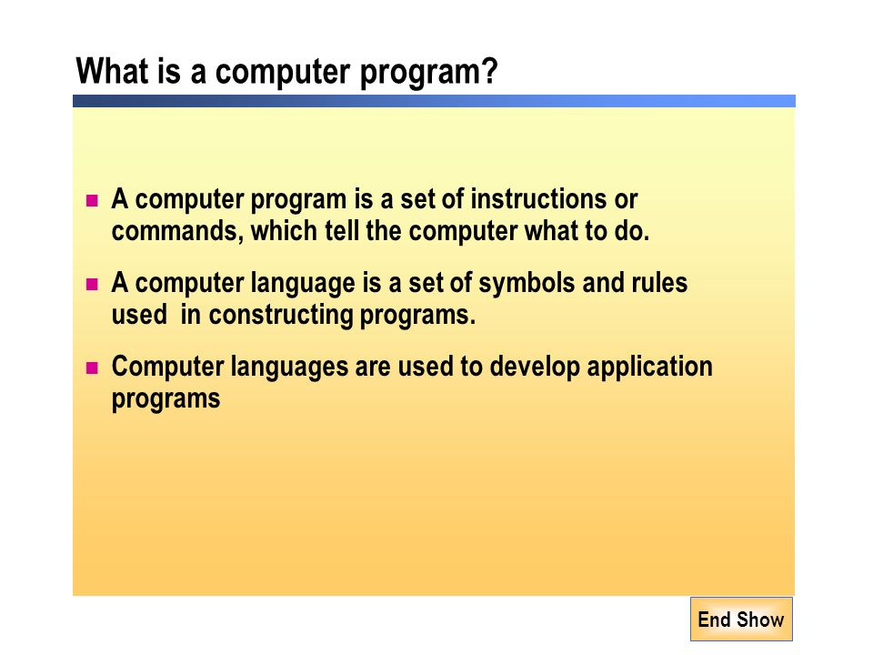 What is a computer program.