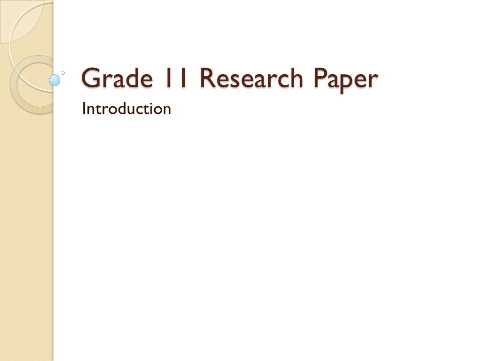 research paper terms