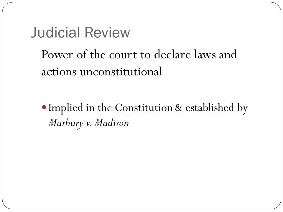 Essay About Marbury V Madison