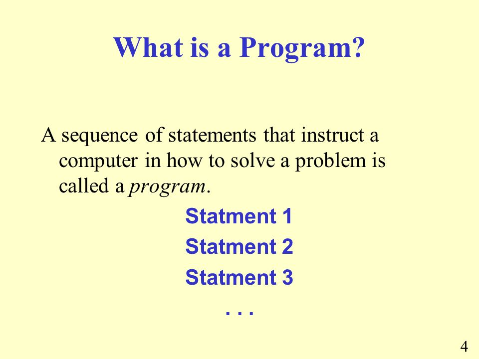 4 What is a Program.