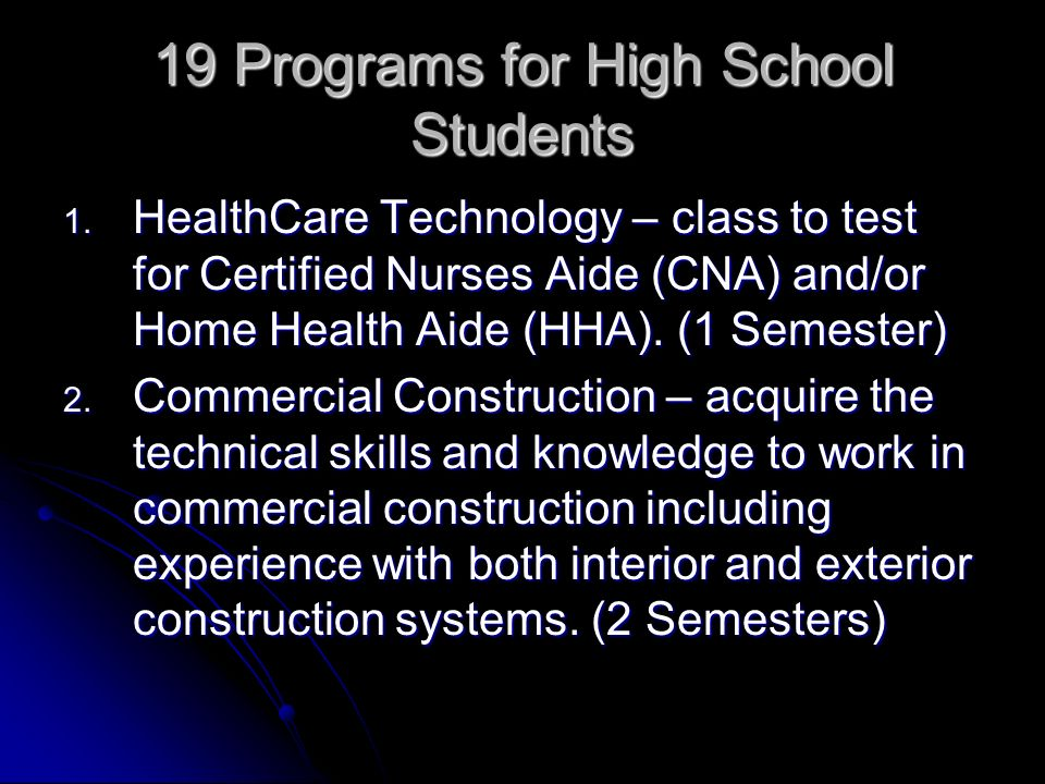 19 Programs for High School Students 1.