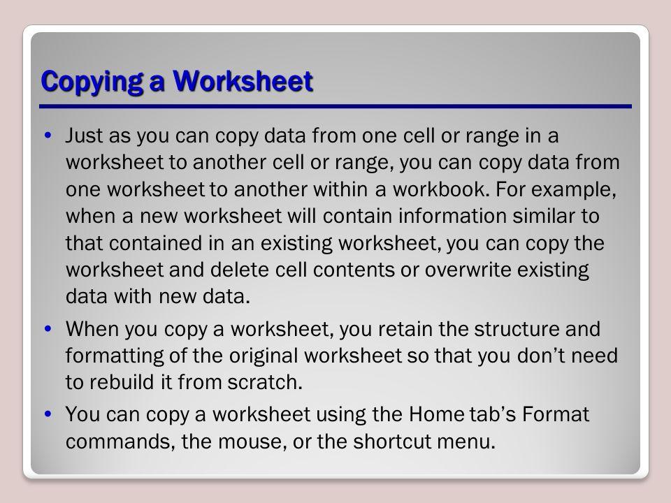 Managing Worksheets Lesson 6. Objectives Software Orientation ...