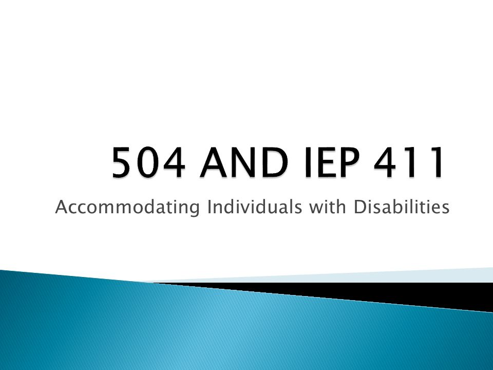 Accommodating individuals with disabilities
