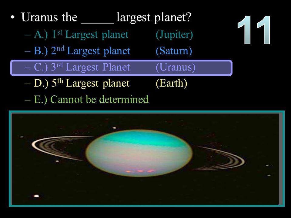 Uranus the _____ largest planet.