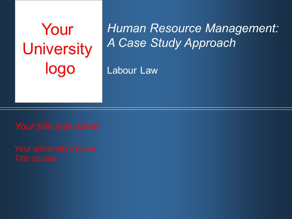hr management case study Consulting case studies jan 01, 2014 a global return for human resources when the financial services firm engaged pwc to help it plan and implement a solution.