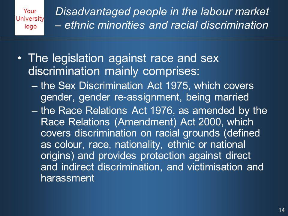 discrimination 1975 summary act of sex