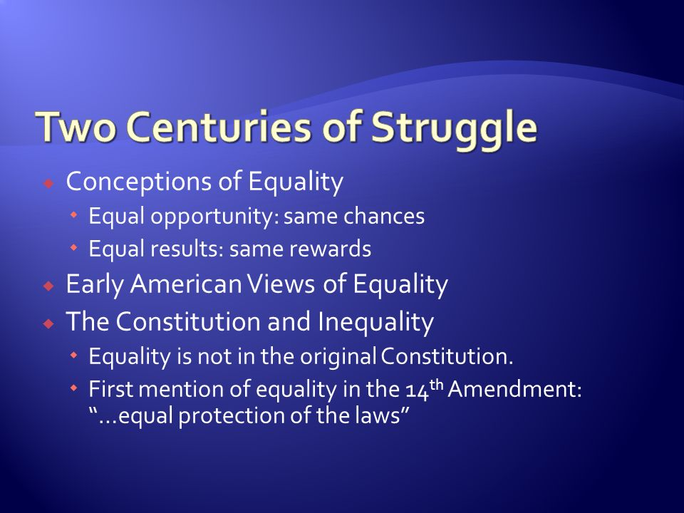 inequality and constitution