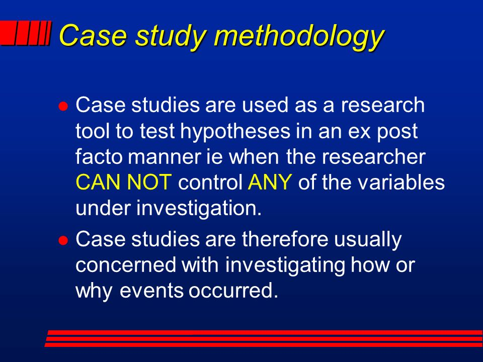 case study methodology in educational research Research methods in education ethics, sampling, sensitive educational research, researching powerful people 11 case studies.