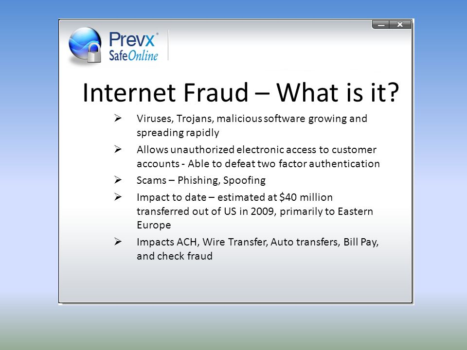 Internet Fraud – What is it.