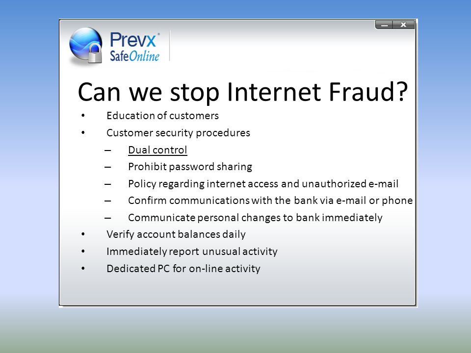 Can we stop Internet Fraud.