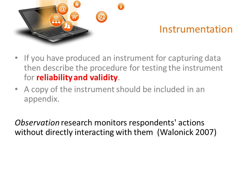 Thesis Instrumentation