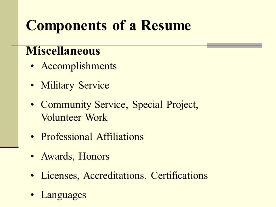 Additional coursework on resume 78