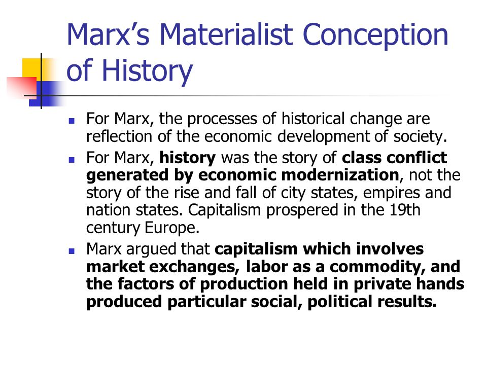 Development thesis marx