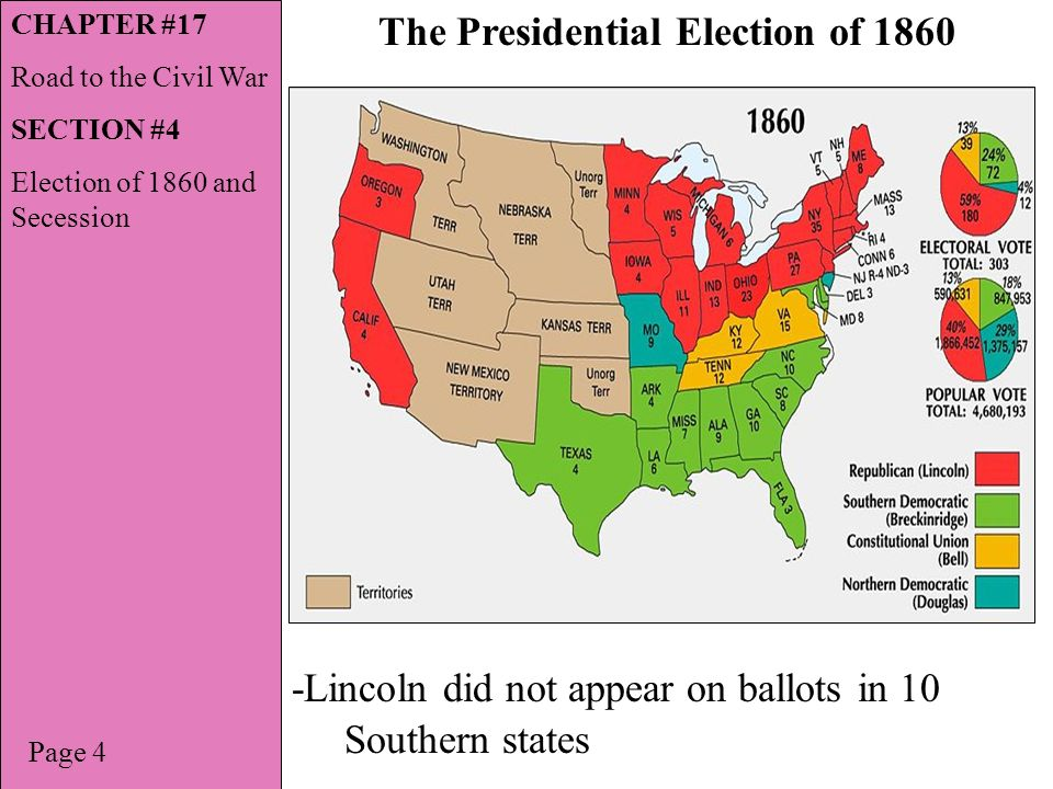 Map Of The United States The Secession. Animated History Of The ...
