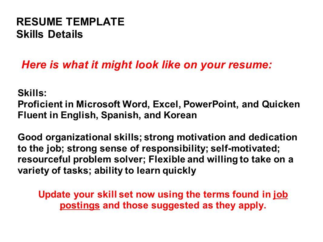 it skills in resume