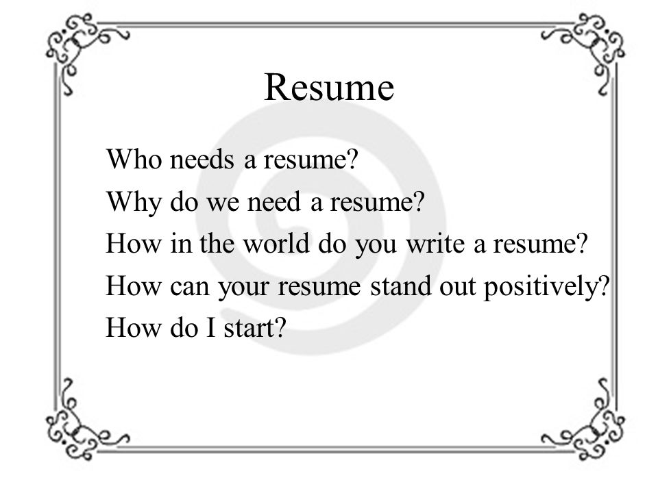1 Resume ...  How To Do A Simple Resume