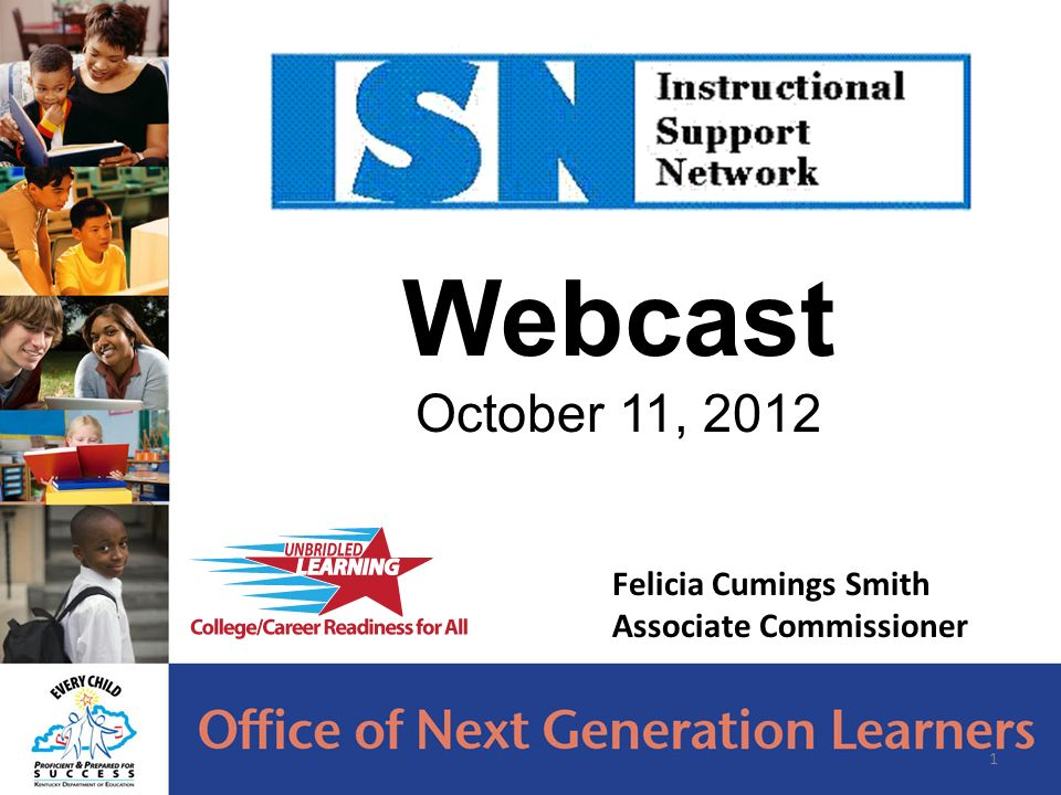 Webcast October 11, Felicia Cumings Smith Associate Commissioner