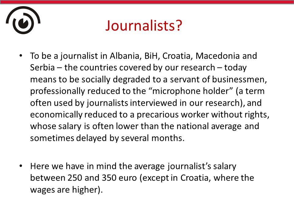 Journalists.