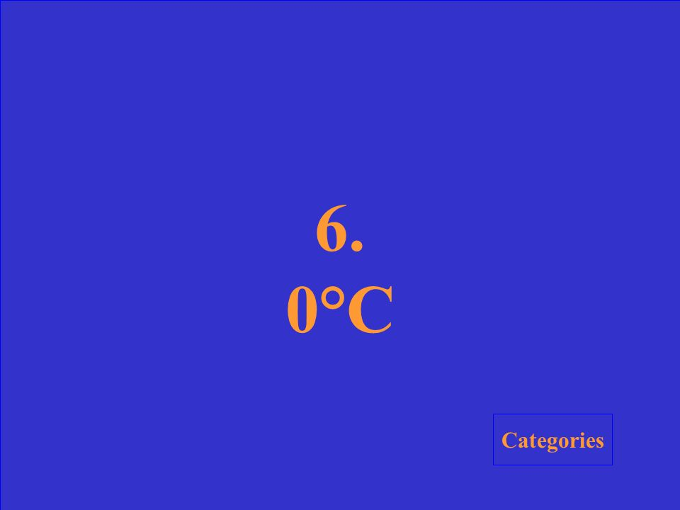 6. What is the freezing point of water on the Celsius scale